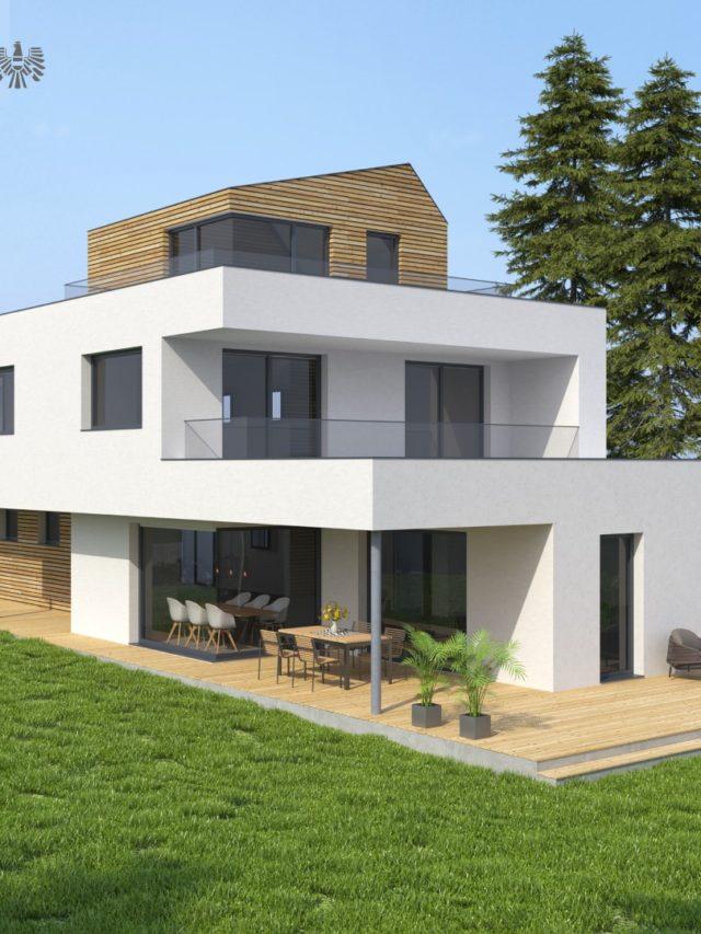 Projekt Eisenstadt Einfamilienhaus Gartenansicht