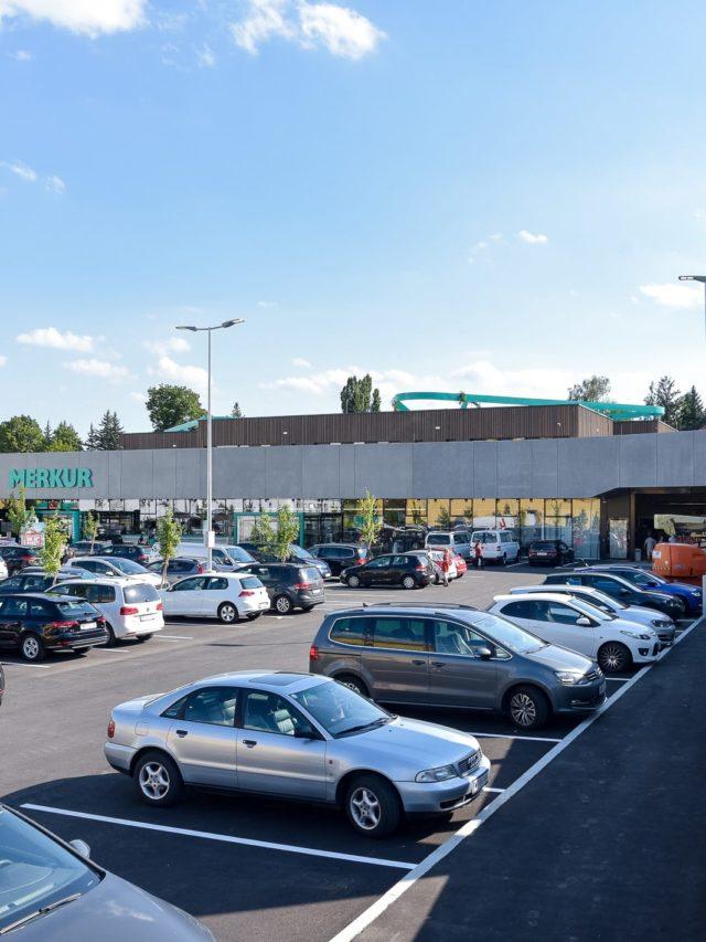 Projekt Rosenhügel Merkur Parkplatz
